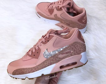 Nike Air Max 90 Coral Stardust/Rust Pink/White Made with SWAROVSKI® Crystals