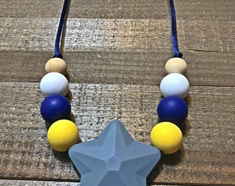 Silicone teething necklace, nursing necklace, breastfeeding necklace, baby nursing necklace