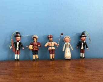 Vintage Wooden Ornaments