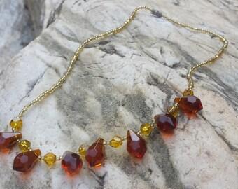 Handmade Beaded Garnet Gemstone Necklace