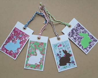 Set of 4 small Bunny, spring / Easter