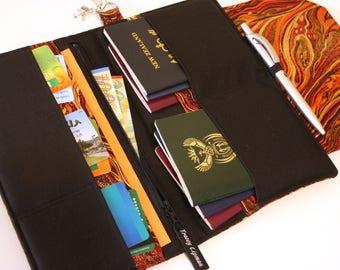 Family Passport Holder - Family Travel Wallet - Family Passport Cover - Travel Document Holder - Boarding Pass Wallet  Large Passport Holder