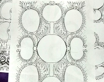 Brainstorming Planner Sheets Printable PDF for Non-linear Planning Meditative Brainstorming Coloring Pages