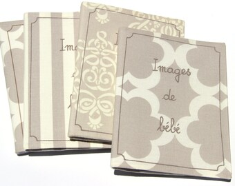Custom Baby Brag Book Choose your own words. Riviera prints Printed cotton