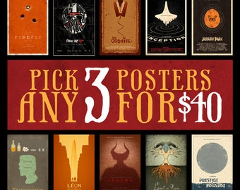 Any 3 Posters for 40 Dollars - 11x17 Size