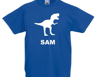 Personalised Dinosaur T Shirt - *Choice of colours*