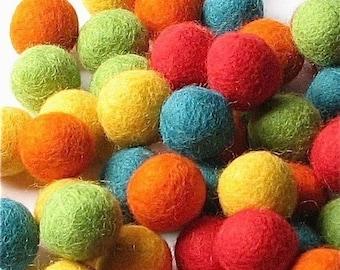 Collection - 60PC Piece FIESTA Felt Balls