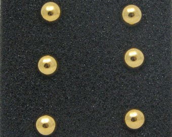 Set nails pins for clothing Golden Ball 7 mm