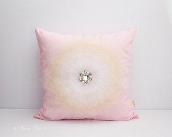 Decorative Pillow, Nursery Pillow, Pillow Cover, Pink Pillow, Flower Pillow, Baby Shower Gifts, Accent Pillow, Dorm Pillow, Pink Cushion