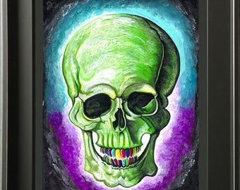 Green Skull (Print)