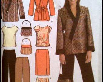 Simplicity 4748  Misses' / Women's Top, Skirt, Pants, Jacket And Bag  Size (10-18)  UNCUT