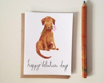 Valentines Day Card // Lab Love // Valentine // Dog Valentine Card