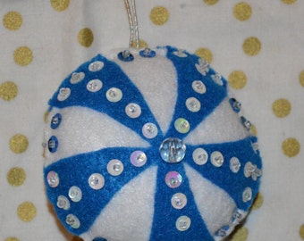 handcrafted 2 pc set of pinwheel ornaments  **SALE**  was 10.00