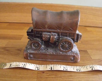Covered Wagon Money Box Banthrico inc Chicago Promoting a Bank 1950s