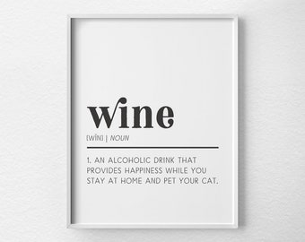 Wine And Cats Print, Wine Poster, Wine Art, Wine Kitchen Art, Kitchen  Poster, Wine Decor, Wine Lover Gift, Wine Wall Art, Wine Bar Art