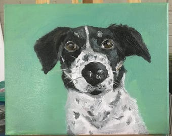 "8""x10"" Black and White Dog"