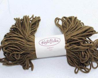 Knit Picks Cadena in Thyme, Wool and Alpaca Blend Yarn, Destash Wool Yarn, Brown Green Wool Yarn, Discontinued Yarn Knit Picks,
