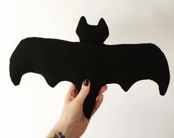 Black bat decorative cushion