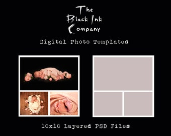 10 x 10 Collage Template #3