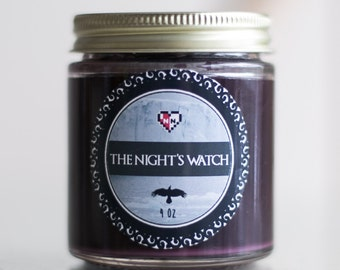 The Night's Watch-- Soy Candle (4 oz.)