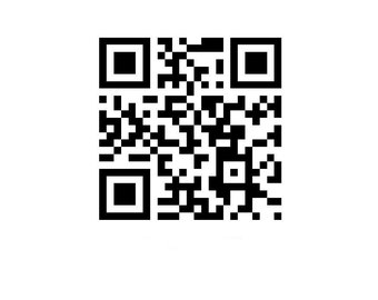 Your custom QR code for your secred message as a vinyl wall decal ideal geekery gift