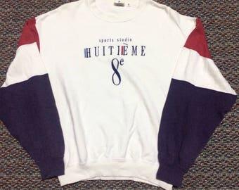 Rare!!vintage Huitieme sweatshirt disigner..nice condition