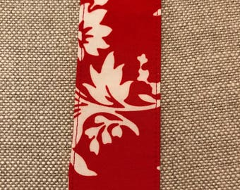 Red and White Branches and Leaves Book Hugger Bookmark