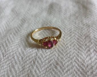 14k ruby ring size 6