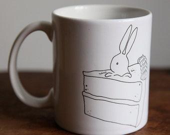 Bunny | Rabbit | Birthday | Cake | Animal | Coffee | Tea | Cup | Gift | Funny | Cute