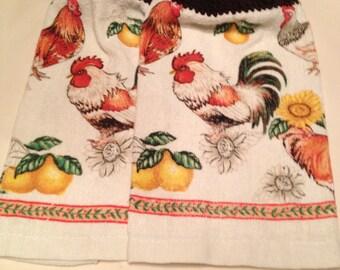 Rooster Print Towel set of 2