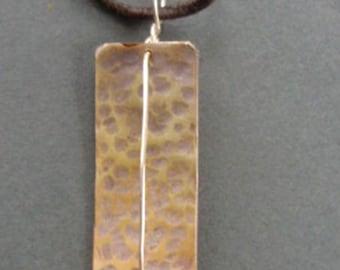 texturized silver pendant