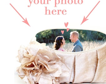 Personalized Photo Clutch. Photo Clutch Bag. Photo Lining. Mother of the Bride Gift. Mother of the Groom Gift. Wedding gift for Grandmother
