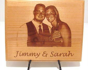 Photo Custom Laser Engraved Wood Plaque Sign - Choose Your Size