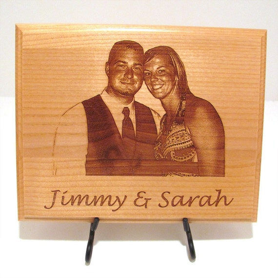 Brand new Photo Custom Laser Engraved Wood Plaque Sign Choose Your AA54