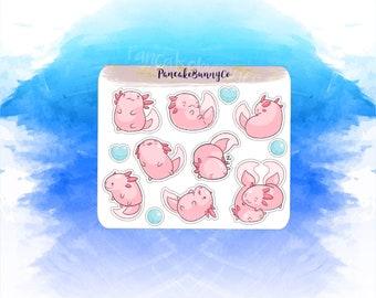 Chubby Axolotl stickers