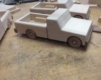 Handcrafted Wood Toy Pickup Truck