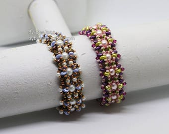 PDF Tutorial : Althea Bracelet Beading Instruction Beadweaving Pattern Instant Download