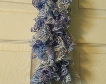 Periwinkle Blue Ruffle Scarf