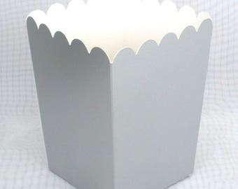 Silver Popcorn Boxes / Treat Boxes / Favor Boxes 12 pack / Fill with your Favorite Treats / Candy Buffet