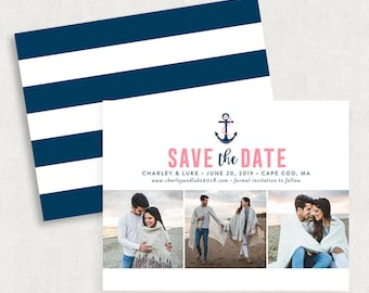 Anchor Save the Dates, Beach Save the Dates, Save the Date Note Cards, Save the Date Postcards, Printable Save the Date, DIY Save the Date
