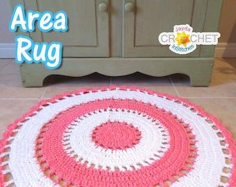 Beautiful Crochet Circle Area Rug - PDF Pattern