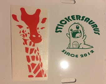 Orange Giraffe Decal