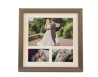 PERSONALISED Multiple Aperture Frame Professionally Printed & Assembled, Wall Hanging