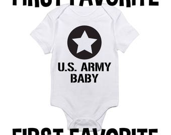 US Army grenouillère Body chemise douche cadeau grossesse militaire annonce naissance révèlent infantile nouveau-né - 24M troupes Amérique vétéran