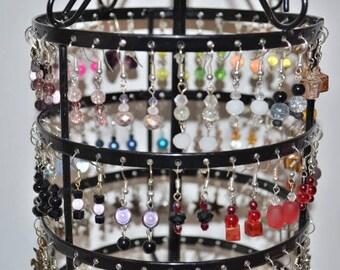 small earrings black / gray