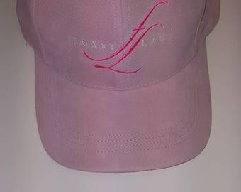 Pink suede Foxxiladi Logo hat