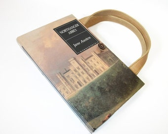 Book Purse Jane Austen Northanger Abbey Book Handbag, Altered Recycled Book, Handmade Clutch