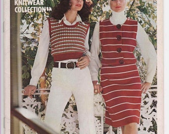 EMPISAL International Knitwear Collection Book AU13 Hot Pants Suit 1970's Fashions Vintage Knit Pattern