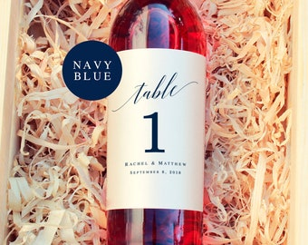 Wine labels table number template Navy blue table numbers Nautical table numbers wedding Navy table numbers pdf Nautical wine labels #vm53