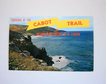 Souvenir of the Cape Breton Island Cabot Trail Postcard, Meat Cove Cape Breton Postcard, Nova Scotia Postcard, Nova Scotia Souvenir